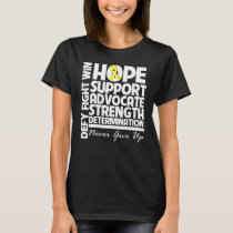 Testicular Cancer Hope Support Strength T-Shirt