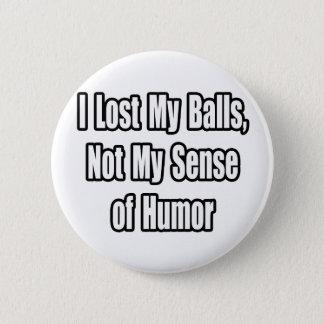 Testicular Cancer Humor Pinback Button