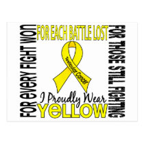 Testicular Cancer I Proudly Wear Yellow 2 Postcard