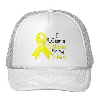 Testicular Cancer I Wear a Ribbon For My Hero Trucker Hat