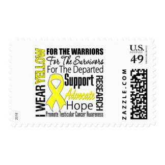 Testicular Cancer I Wear Yellow Ribbon TRIBUTE Stamps