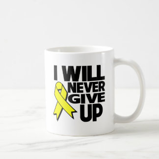 Testicular Cancer I Will Never Give Up.png Classic White Coffee Mug