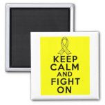 Testicular Cancer Keep Calm and Fight On 2 Inch Square Magnet
