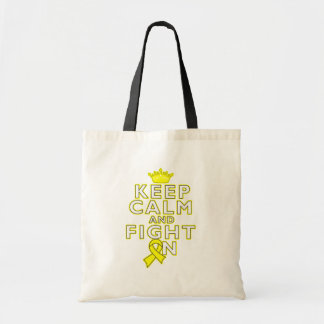 Testicular Cancer Keep Calm Fight On Bags