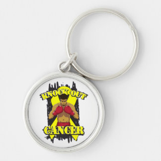 Testicular Cancer Knock Out Cancer Key Chain