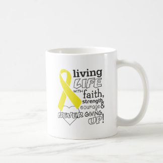 Testicular Cancer Living Life With Faith Classic White Coffee Mug