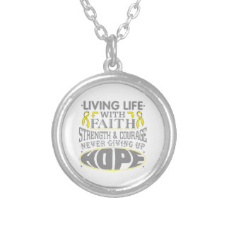 Testicular Cancer Living Life with Faith Personalized Necklace