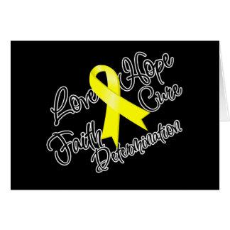 Testicular Cancer Love Hope Determination Card