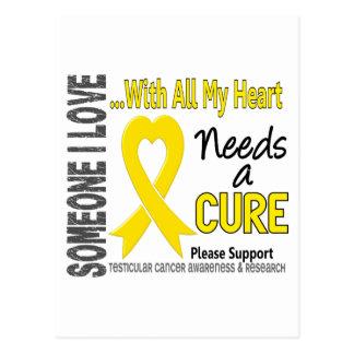 Testicular Cancer Needs A Cure 3 Postcard