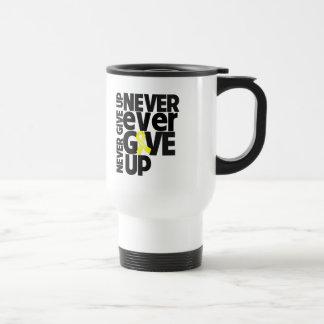 Testicular Cancer Never Ever Give Up 15 Oz Stainless Steel Travel Mug