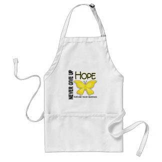 Testicular Cancer Never Give Up Hope Butterfly 4.1 Adult Apron