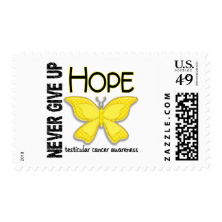 Testicular Cancer Never Give Up Hope Butterfly 4.1 Postage Stamp