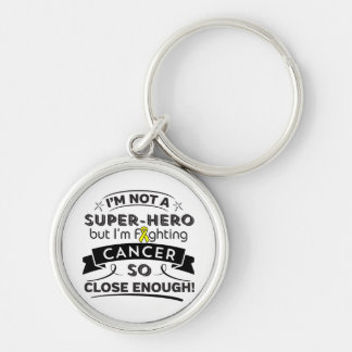 Testicular Cancer Not a Super-Hero Silver-Colored Round Keychain