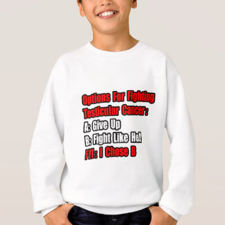 Testicular Cancer Options Sweatshirt