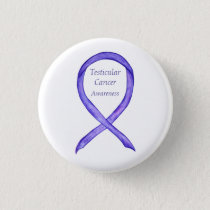 Testicular Cancer Orchid Awareness Ribbon Pins
