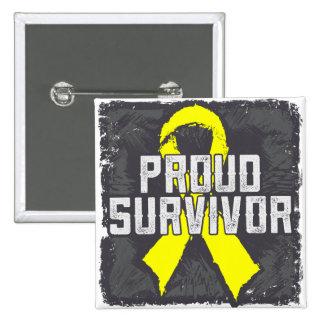 Testicular Cancer Proud Survivor Pins