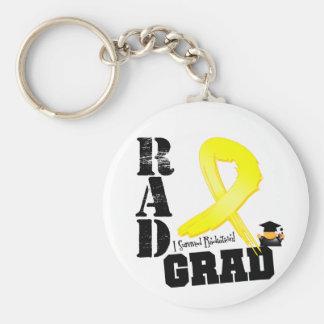 Testicular Cancer Radiation Therapy RAD Grad Basic Round Button Keychain