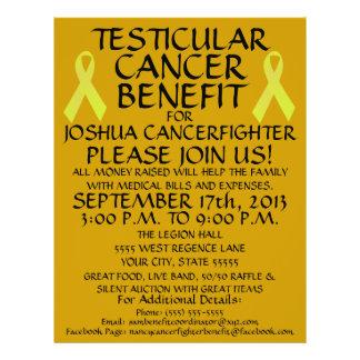 Testicular Cancer Ribbon Benefit Flyer