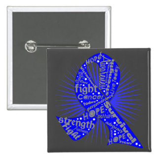 Testicular Cancer Ribbon Powerful Slogans Pinback Buttons