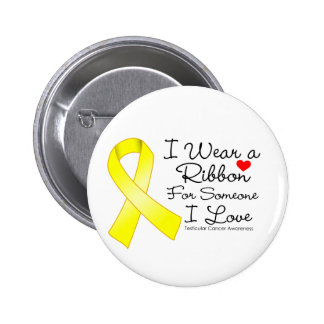 Testicular Cancer Ribbon Someone I Love 2 Inch Round Button