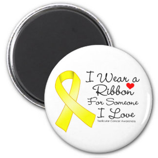 Testicular Cancer Ribbon Someone I Love 2 Inch Round Magnet