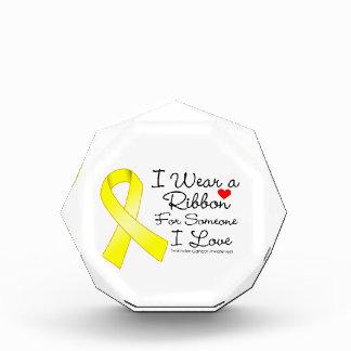 Testicular Cancer Ribbon Someone I Love Acrylic Award