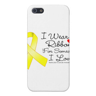 Testicular Cancer Ribbon Someone I Love iPhone 5/5S Cases