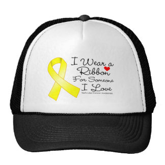 Testicular Cancer Ribbon Someone I Love Trucker Hat