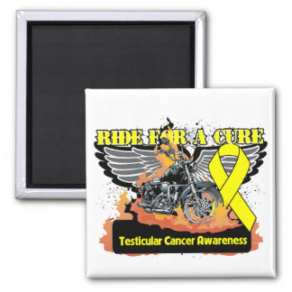 Testicular Cancer Ride For a Cure 2 Inch Square Magnet