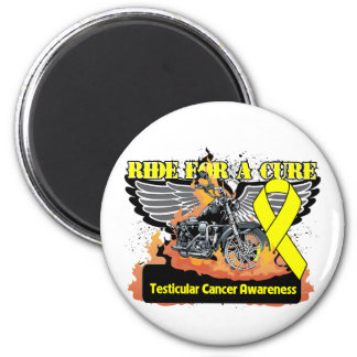 Testicular Cancer Ride For a Cure 2 Inch Round Magnet