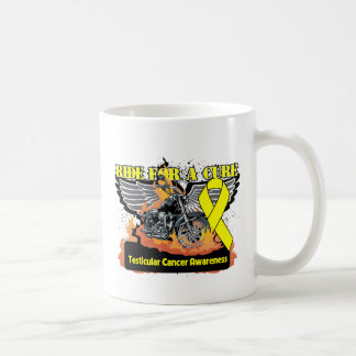 Testicular Cancer Ride For a Cure Classic White Coffee Mug