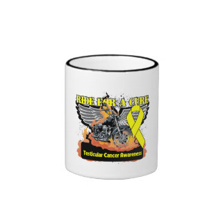 Testicular Cancer Ride For a Cure Ringer Coffee Mug