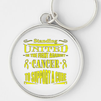 Testicular Cancer Standing United Key Chains