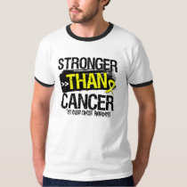 Testicular Cancer - Stronger Than Cancer Tshirt