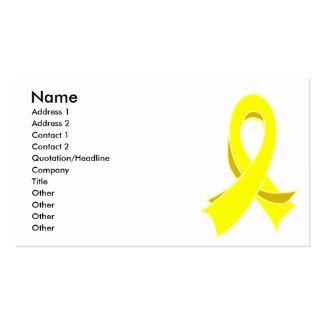 Testicular Cancer Stylish Ribbon Business Card