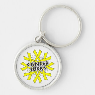 Testicular Cancer Sucks Keychain