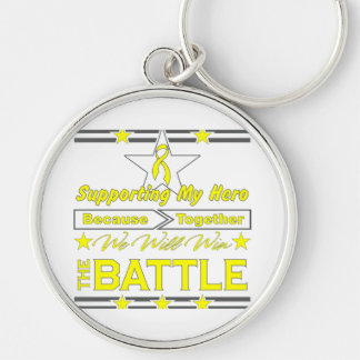 Testicular Cancer Supporting My Hero Keychain