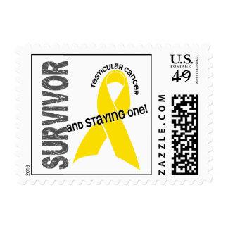 Testicular Cancer Survivor 1 Postage Stamps