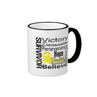 Testicular Cancer Survivor Collage Ringer Coffee Mug