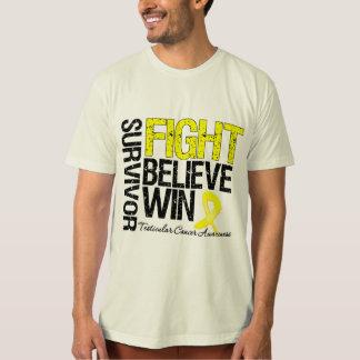 Testicular Cancer Survivor Fight Believe Win Motto T-shirt