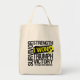 Testicular Cancer Survivor I Won Canvas Bags
