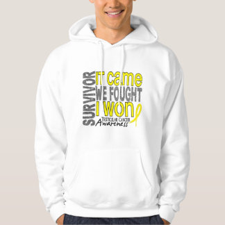 Testicular Cancer Survivor It Came We Fought I Won Hoodie