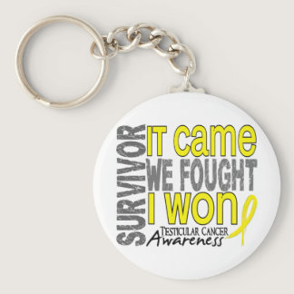 Testicular Cancer Survivor It Came We Fought I Won Keychain
