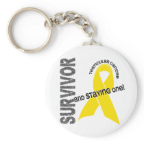 Testicular Cancer Survivor Keychain