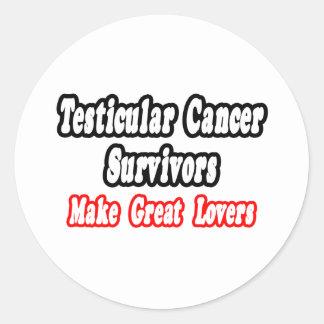 Testicular Cancer Survivors Make Great Lovers Classic Round Sticker