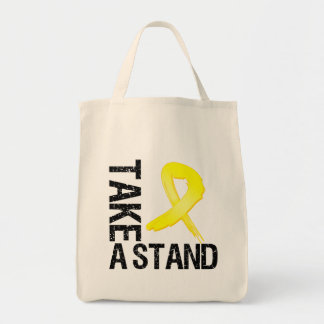 Testicular Cancer Take A Stand Canvas Bags