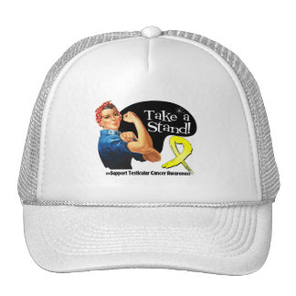 Testicular Cancer Take a Stand Mesh Hats