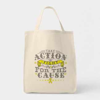 Testicular Cancer Take Action Fight For The Cause Canvas Bag