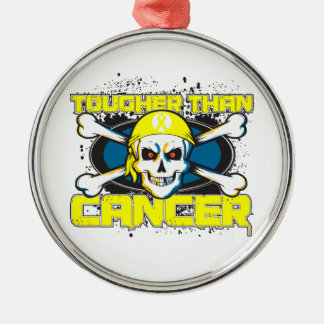 Testicular Cancer Tougher Than Cancer Skull Christmas Ornaments