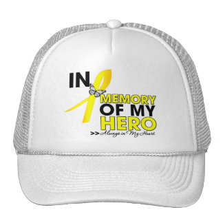 Testicular Cancer Tribute In Memory of My Hero Trucker Hat